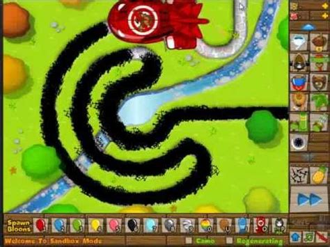 BTD5 Bloons Tower Defense 5 - ROAD SPIKES vs ZOMG - YouTube
