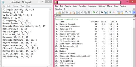 python - Print contents of txt file into Table form