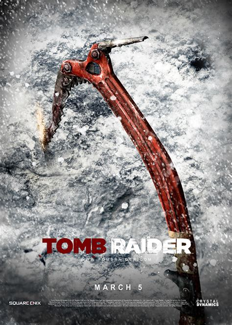Tomb Raider 2013 posters on Behance
