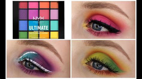 NYX ULTIMATE BRIGHTS PALETTE | 3 Looks, 1 Palette! - YouTube