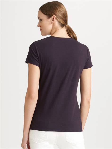 Tory Burch Embroidered Logo Tshirt in Navy (Blue) - Lyst