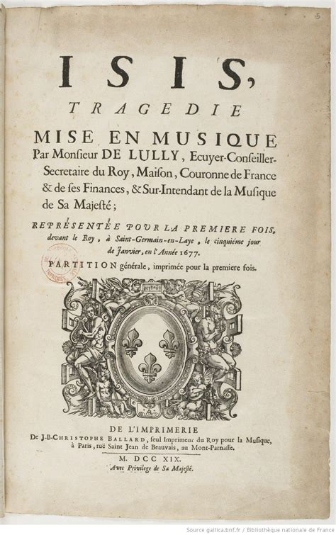 Isis (Lully) – Wikipedie