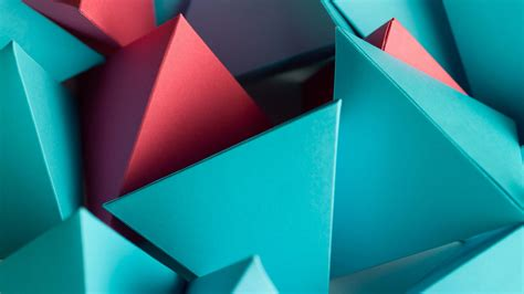 Wallpaper Triangles, Shapes, Geometric, 3D, HD, Abstract