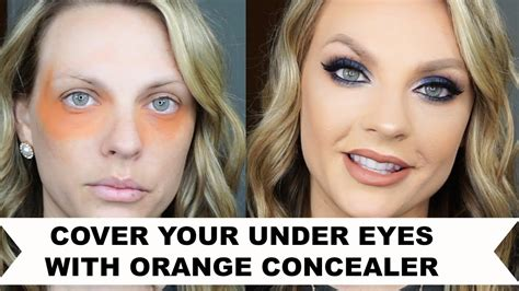 COVER YOUR UNDER EYES WITH ORANGE CONCEALER - YouTube
