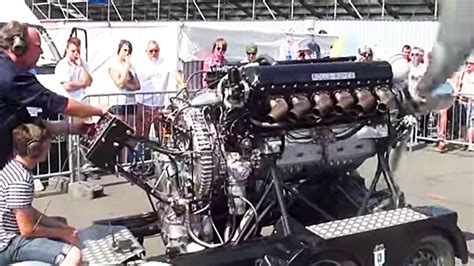 Well This Is Neat: Rolls-Royce Merlin Cranking At Carshow